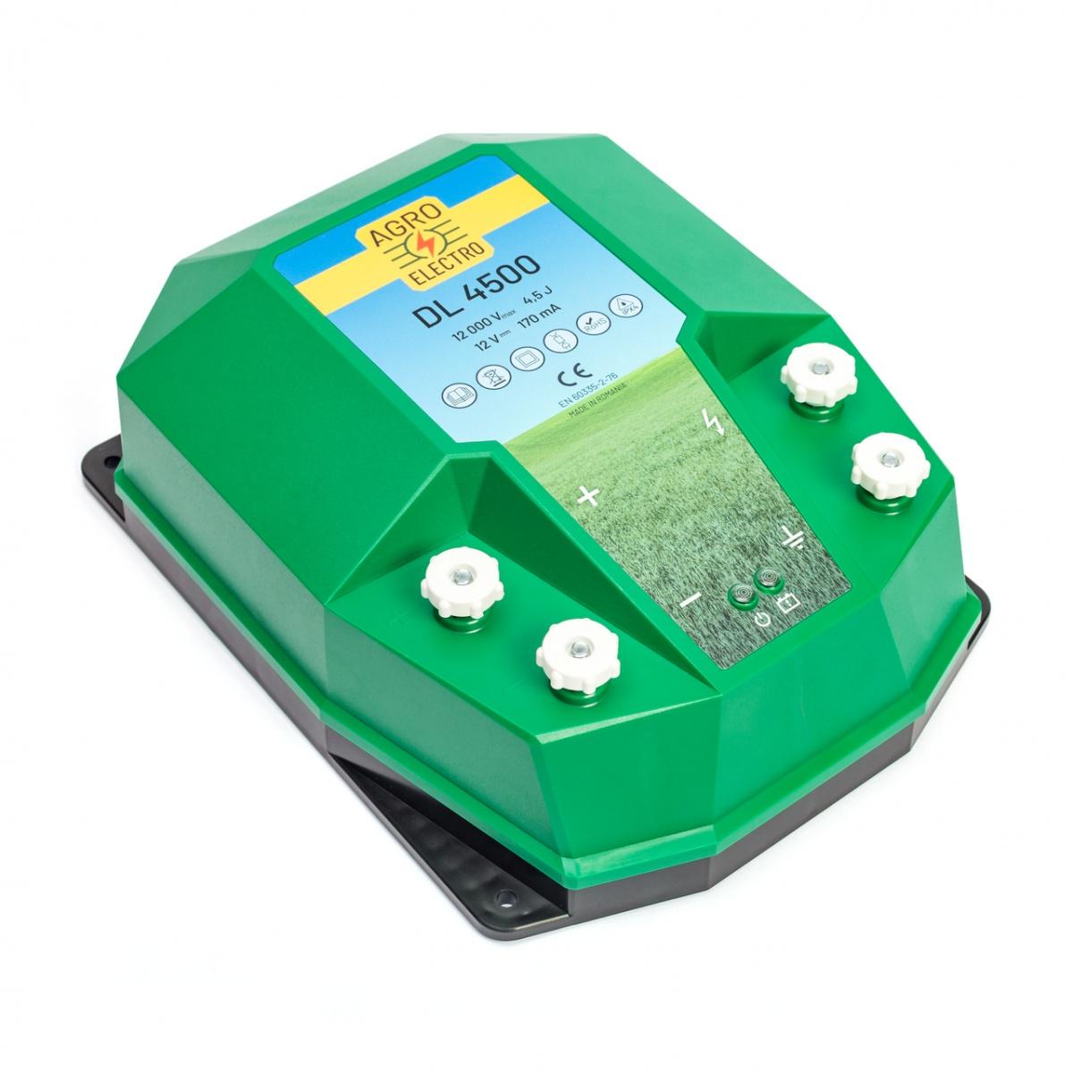 DL4500 villanypásztor készülék, 12V, 4,5Joule, hálózati adapterrel