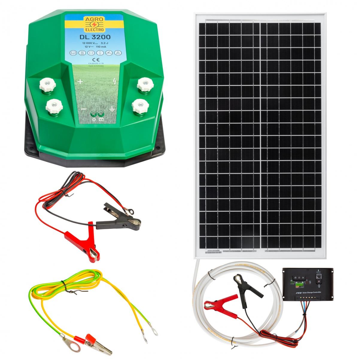 DL3200 villanypásztor készülék, 12V, 3,2Joule, napelemes rendszerrel