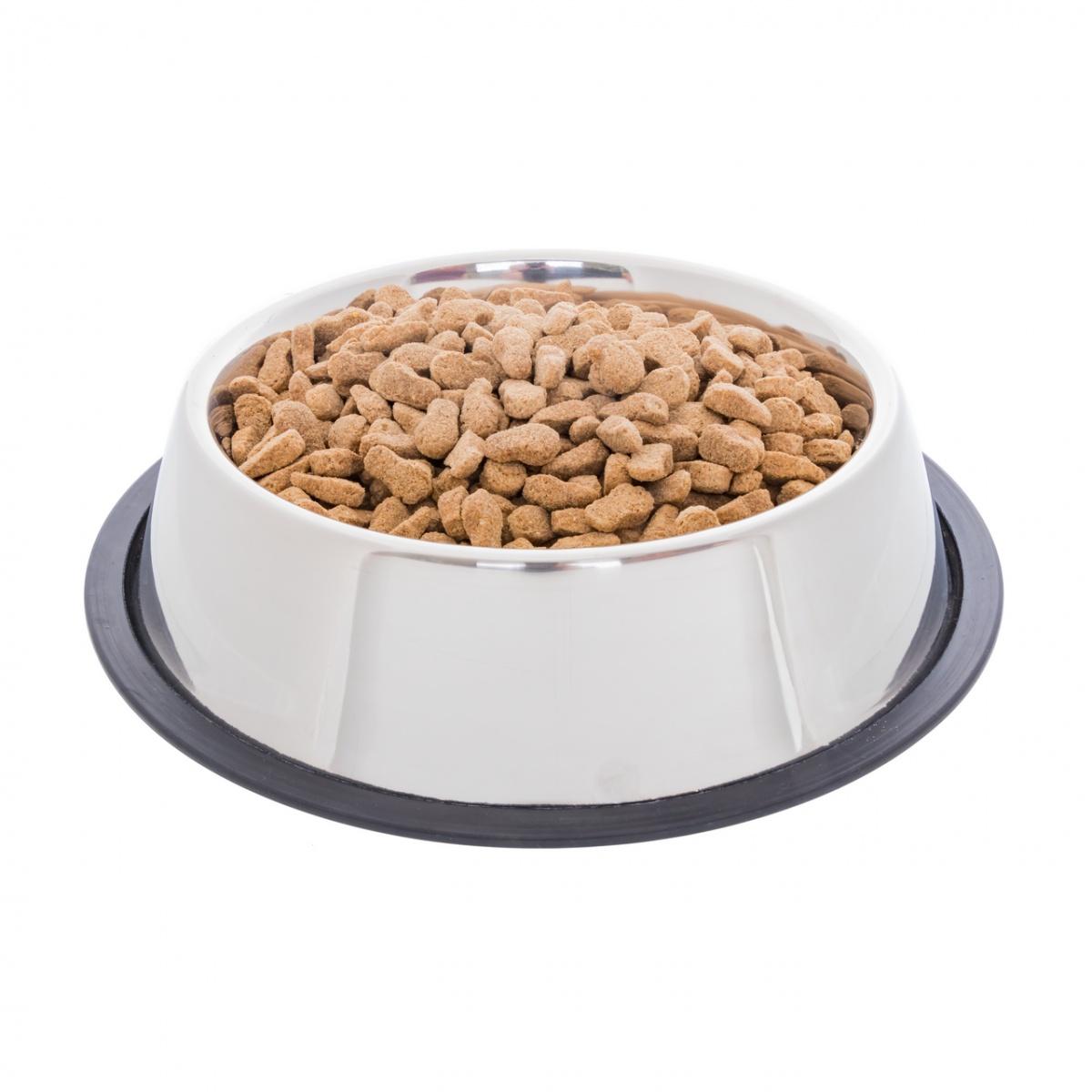 Inox etetőtál kutyáknak, Ø23 cm, 1800 ml