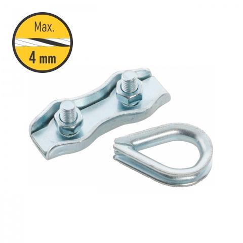 0125 - Kapu csatlakozó szett 2-4mm-es zsinórnak, 2 szett - 570Ft