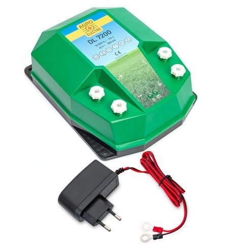 0224-0240 - DL7200 villanypásztor készülék, 12V, 7,2Joule, hálózati adapterrel - 49600Ft