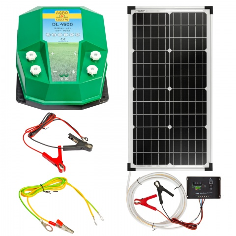 0223-0090 - DL4500 villanypásztor készülék, 12V, 4,5Joule, napelemes rendszerrel - 54600Ft
