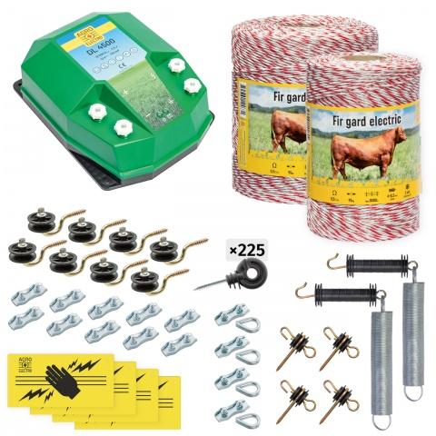 cd-45-1500-0 - Teljes villanypásztor csomag háziállatoknak, 1500m, 4,5Joule - 67000Ft