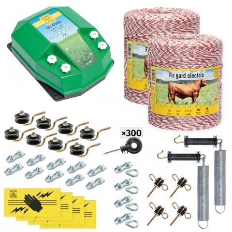 cd-45-2000-0 - Teljes villanypásztor csomag háziállatoknak, 2000m, 4,5Joule - 79500Ft