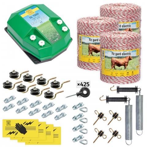 cd-72-3000-0 - Teljes villanypásztor csomag háziállatoknak, 3000m, 7,2Joule - 117500Ft