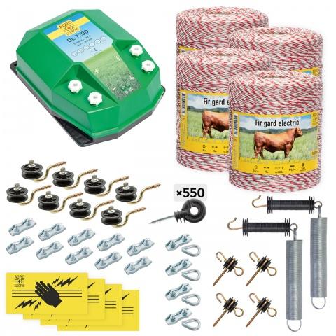 cd-72-4000-0 - Teljes villanypásztor csomag háziállatoknak, 4000m, 7,2Joule - 137000Ft