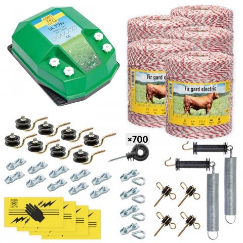 cd-72-5000-0 - Teljes villanypásztor csomag háziállatoknak, 5000m, 7,2Joule - 157500Ft