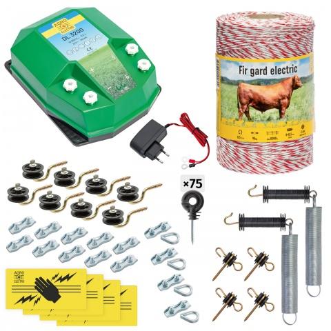 cd-32-500-a - Teljes villanypásztor csomag háziállatoknak, 500m, 3,2Joule, 230V - 48000Ft