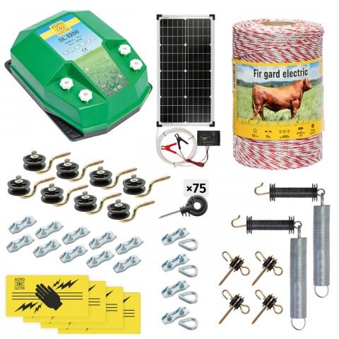 cd-32-500-s - Teljes villanypásztor csomag háziállatoknak, 500m, 3,2Joule, napelemes rendszerrel - 79500Ft