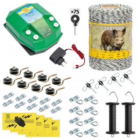 cw-32-500-a - Teljes villanypásztor csomag vadállatoknak, 500m, 3,2Joule, 230V - 49000Ft