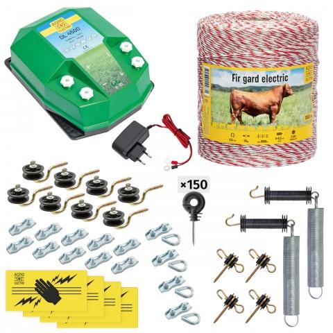 cd-45-1000-a - Teljes villanypásztor csomag háziállatoknak, 1000m, 4,5Joule, 230V - 64000Ft