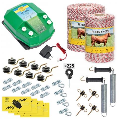 cd-45-1500-a - Teljes villanypásztor csomag háziállatoknak, 1500m, 4,5Joule, 230V - 71000Ft