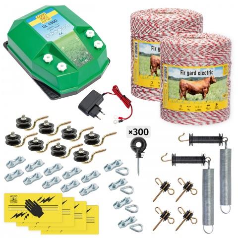 cd-45-2000-a - Teljes villanypásztor csomag háziállatoknak, 2000m, 4,5Joule, 230V - 84000Ft