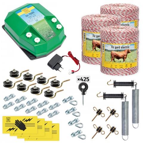 cd-72-3000-a - Teljes villanypásztor csomag háziállatoknak, 3000m, 7,2Joule, 230V - 122000Ft