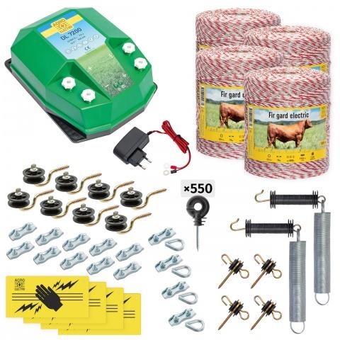 cd-72-4000-a - Teljes villanypásztor csomag háziállatoknak, 4000m, 7,2Joule, 230V - 141000Ft