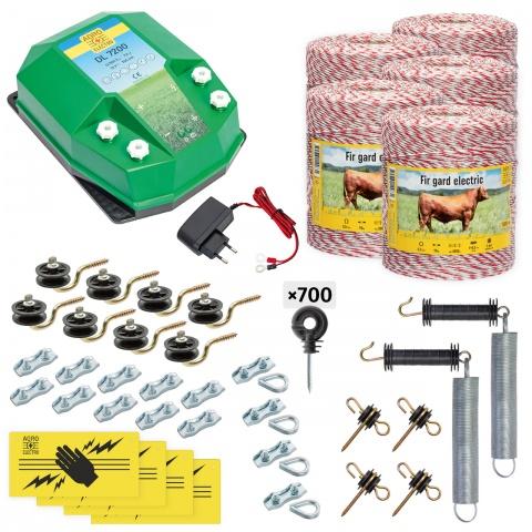 cd-72-5000-a - Teljes villanypásztor csomag háziállatoknak, 5000m, 7,2Joule, 230V - 153000Ft