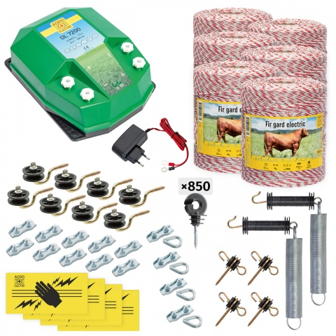 cd-72-6000-a - Teljes villanypásztor csomag háziállatoknak, 6000m, 7,2Joule, 230V - 182000Ft