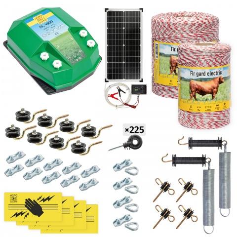 cd-45-1500-s - Teljes villanypásztor csomag háziállatoknak, 1500m, 4,5Joule, napelemes rendszerrel - 95500Ft