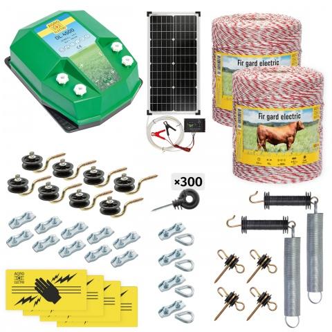 cd-45-2000-s - Teljes villanypásztor csomag háziállatoknak, 2000m, 4,5Joule, napelemes rendszerrel - 115600Ft