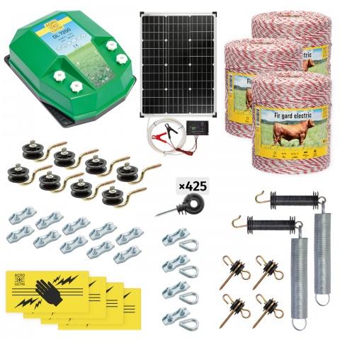 cd-72-3000-s - Teljes villanypásztor csomag háziállatoknak, 3000m, 7,2Joule, napelemes rendszerrel - 166300Ft
