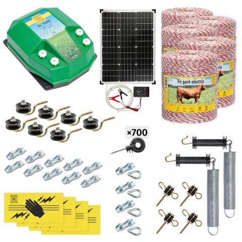 cd-72-5000-s - Teljes villanypásztor csomag háziállatoknak, 5000m, 7,2Joule, napelemes rendszerrel - 195000Ft