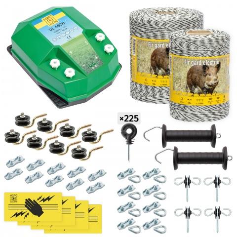 cw-45-1500-0 - Teljes villanypásztor csomag vadállatoknak, 1500m, 4,5Joule - 73500Ft