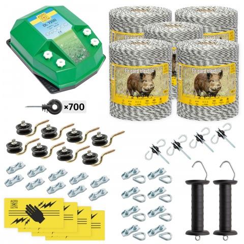 Teljes villanypásztor csomag vadállatoknak, 5000m, 7,2Joule