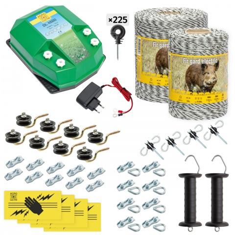 cw-45-1500-a - Teljes villanypásztor csomag vadállatoknak, 1500m, 4,5Joule, 230V - 80000Ft