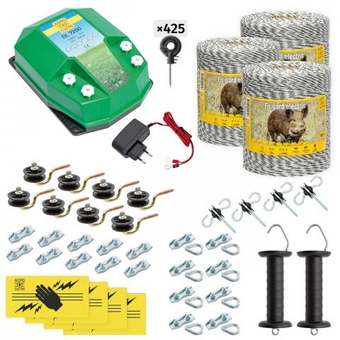 cw-72-3000-a - Teljes villanypásztor csomag vadállatoknak, 3000m, 7,2Joule, 230V - 129000Ft