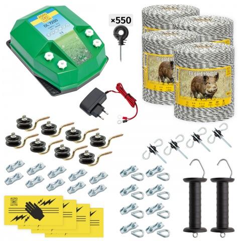 cw-72-4000-a - Teljes villanypásztor csomag vadállatoknak, 4000m, 7,2Joule, 230V - 152000Ft