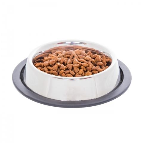 Inox etetőtál macskáknak, Ø12 cm, 230 ml