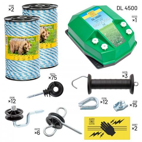 kit-apic-dl4500-0 - Villanypásztor csomag méhészeknek. DL4500-as készülékkel, 12V-os táplálással - 62000Ft