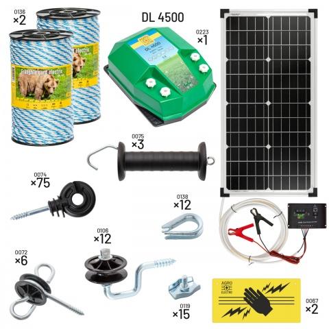 kit-apic-dl4500-s - Villanypásztor csomag méhészeknek. DL4500-as készülékkel, napelemes táplálással - 96079Ft