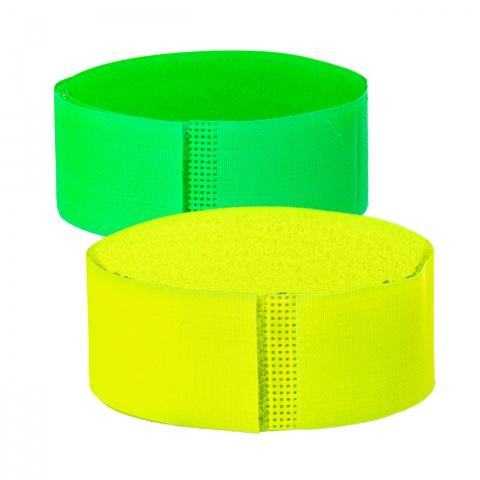 0448-gy - Tépőzáras bokaszalag szarvasmarháknak, zöld + sárga, 400×40mm - 2690Ft