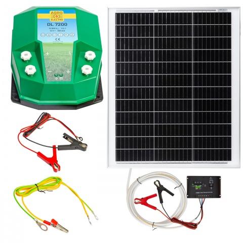 0224-0202 - DL7200 villanypásztor készülék, 12V, 7,2Joule, 50W-os napelemes rendszerrel - 86900Ft