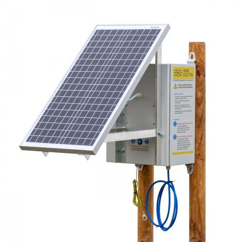 0237 - Kompakt DL3200 villanypásztor készülék napelemes rendszerrel és két 12V-os akkumulátorral - 117400Ft