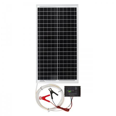 0090 - Napelemes rendszer, 30W, töltésvezérlővel - 30400Ft
