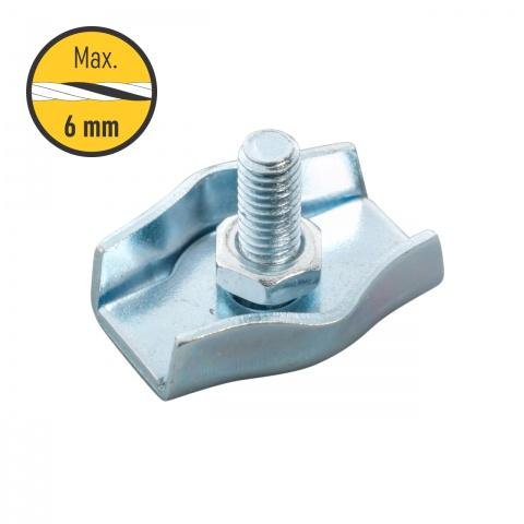 0119 - Egyszerű csatlakozó, 4-6mm-es kötélnek - 250Ft