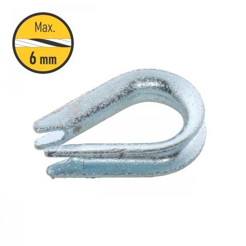 0138 - Gyűrűs csatlakozó 4-6-esmm kötélnek - 150Ft