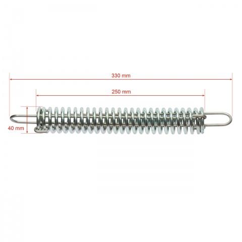 Feszítő rugó 2,5 mm-es huzalnak