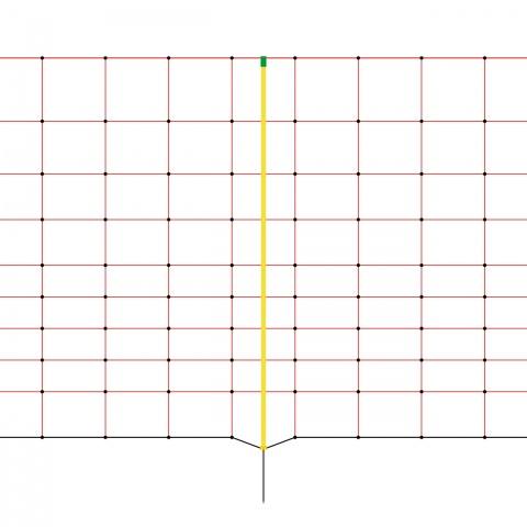 0159 - Villanypásztor háló 50 m × 108 cm - 35800Ft