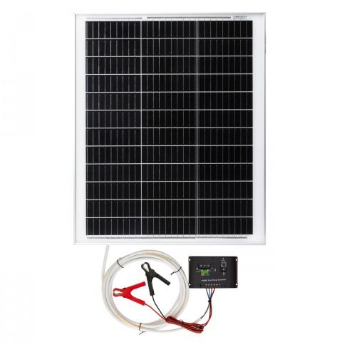 0202 - Napelemes rendszer, 50W, töltésvezérlővel - 37700Ft