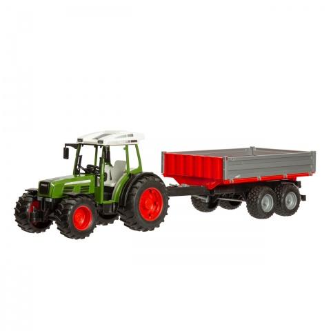 0264 - Fendt 209 S játéktraktor pótkocsival - 9600Ft