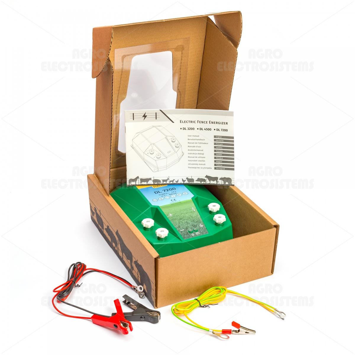 DL7200 villanypásztor készülék, 12V, 7,2Joule, napelemes rendszerrel