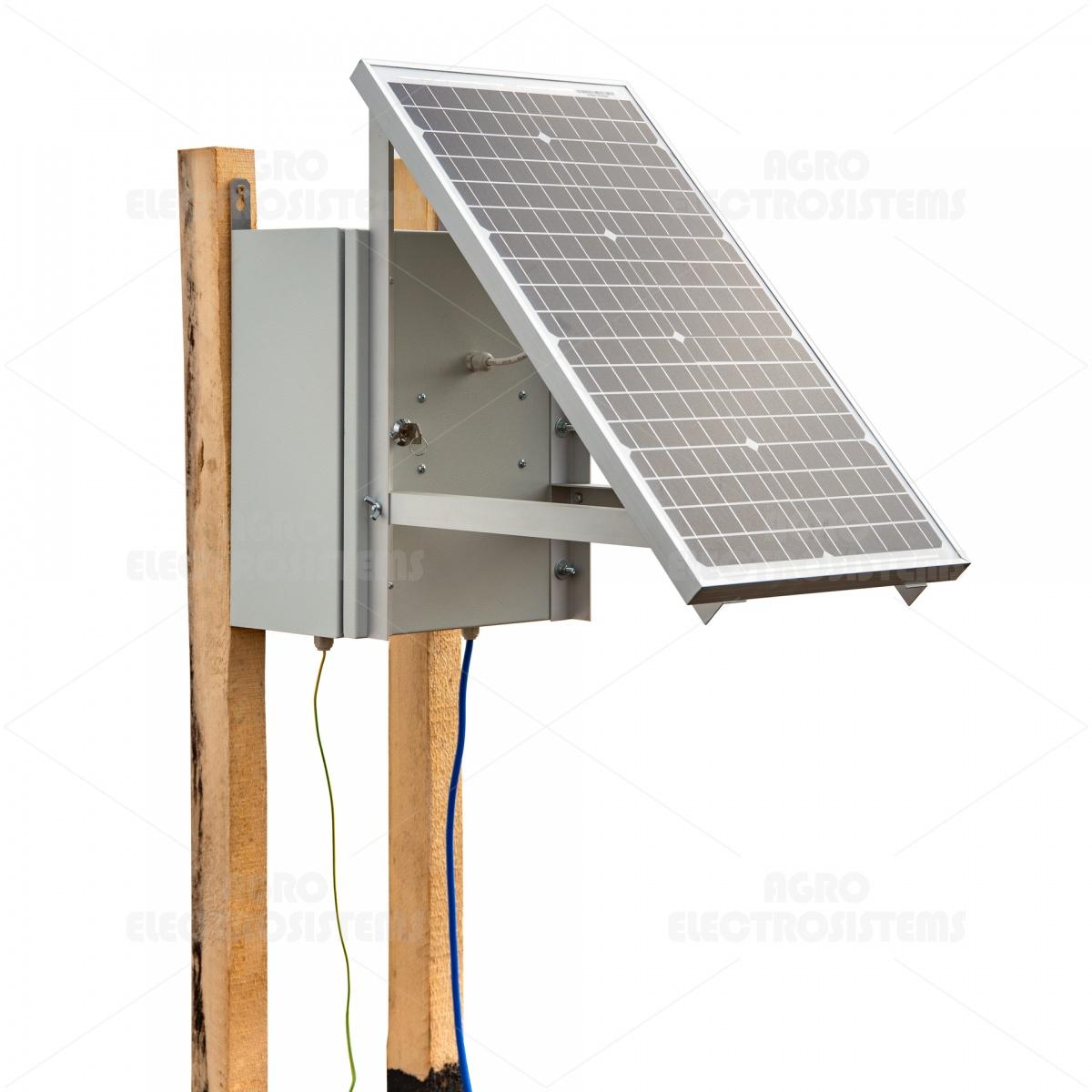 Kompakt DL4500 villanypásztor készülék napelemes rendszerrel és 12V-os akkumulátorral