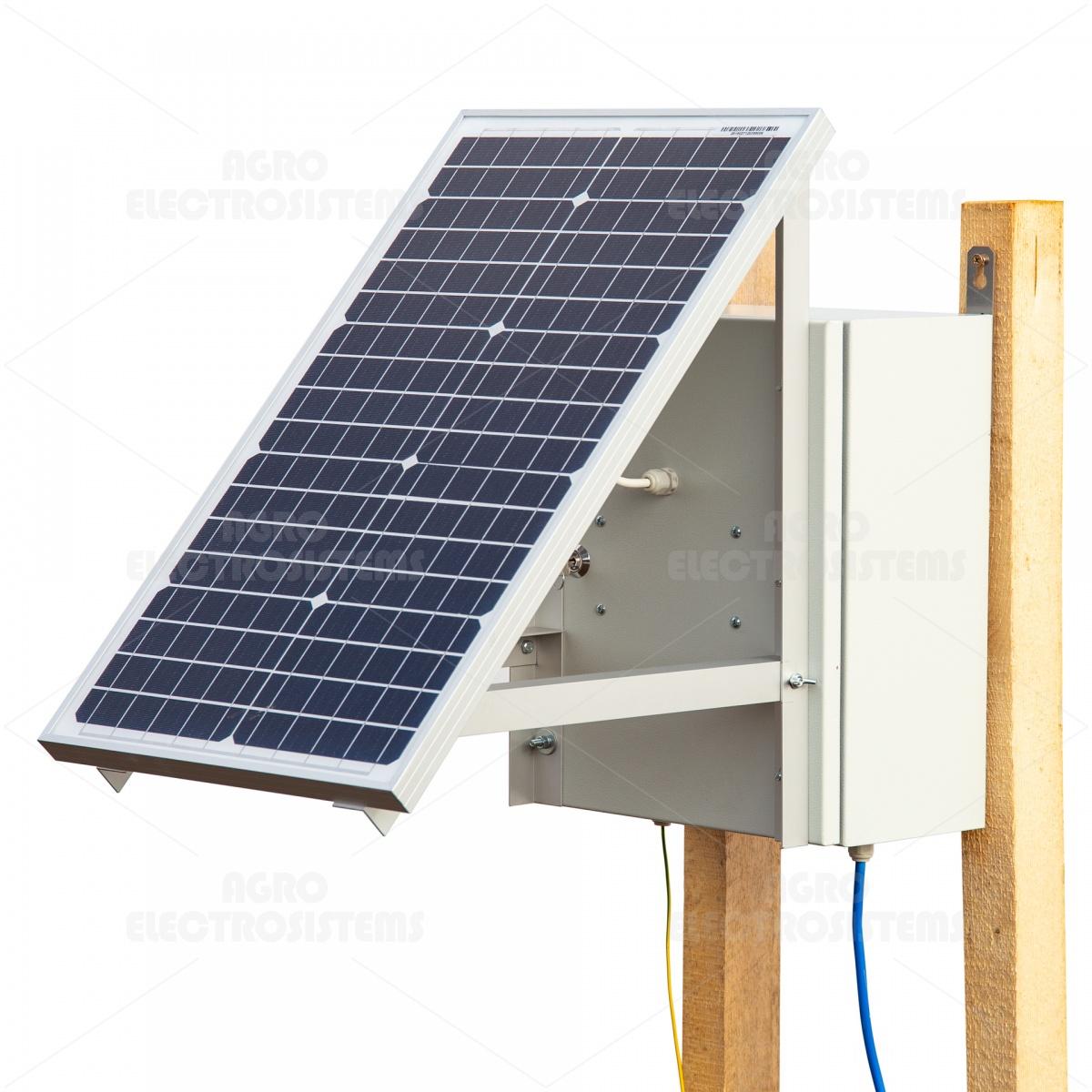 Kompakt DL7200 villanypásztor készülék napelemes rendszerrel és két 12V-os akkumulátorral