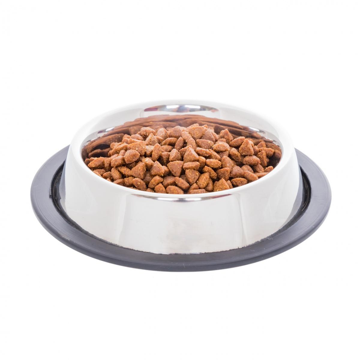 Inox etetőtál macskáknak, Ø12 cm, 250 ml