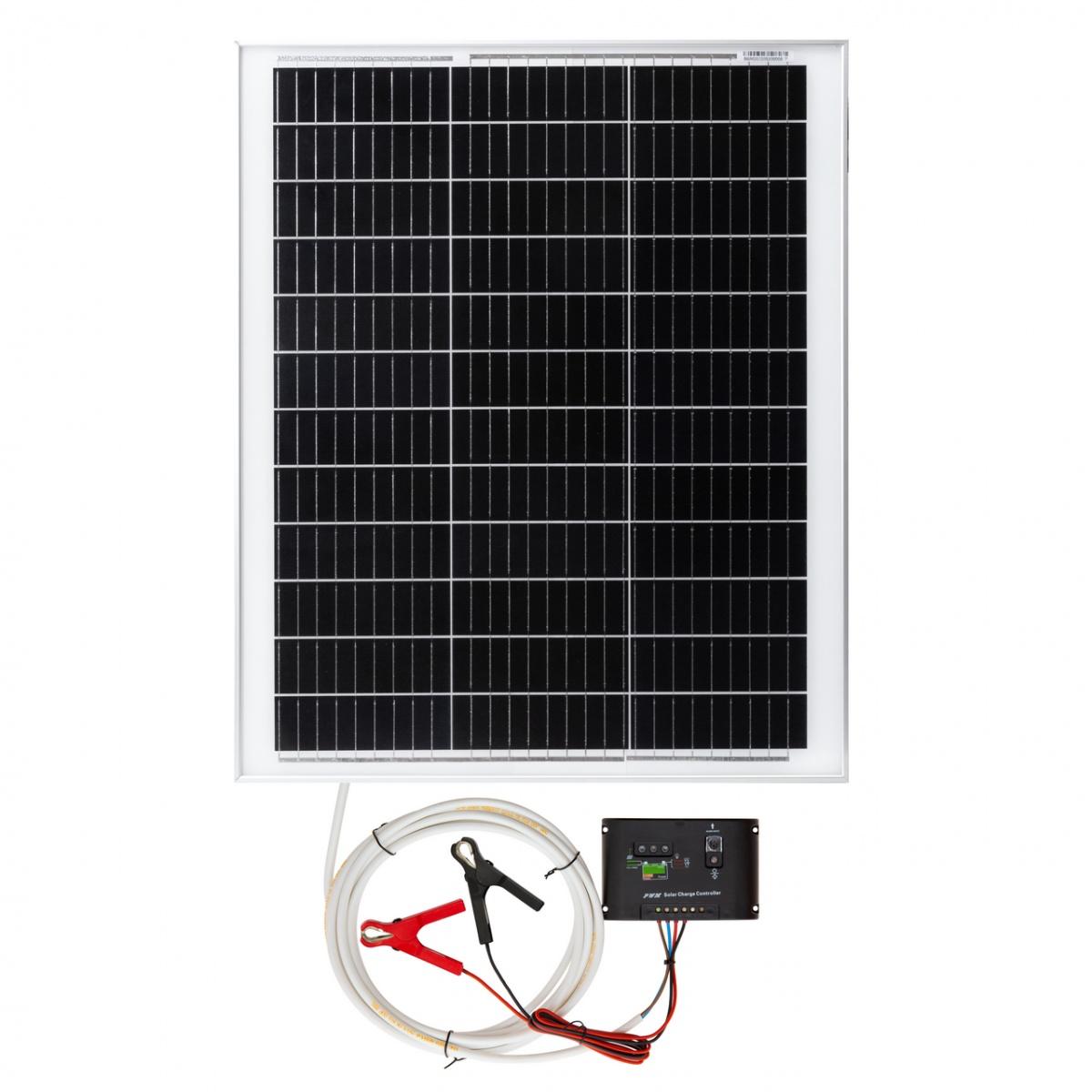Napelemes rendszer, 50W, töltésvezérlővel