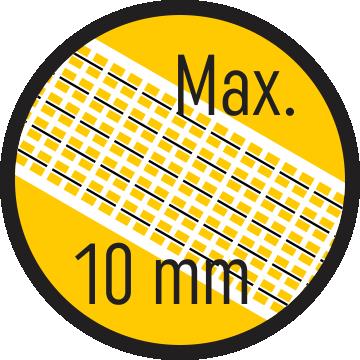 Szalag max. 10 mm