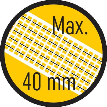 Szalag max. 40 mm